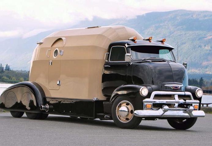 Chevrolet, грузовик, дом на колесах