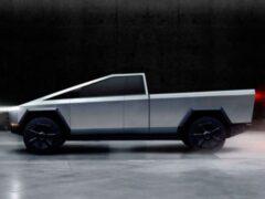 Дизайнеры показали двухдверный пикап Tesla Cybertruck