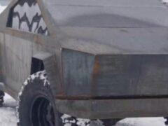 Корпус CyberTruck на основе УАЗа сделали умельцы Новосибирска