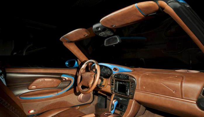 Porsche 911 Carrera Cabriolet, салон, тюнинг, кожа, дерево