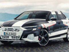 Новый Audi S3 Sportback показали на закрытой презентации