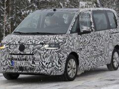 Новый Volkswagen T7 Multivan вышел на тесты