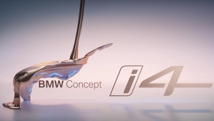 BMW i4, жидкая скульптура
