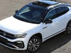 Кросс-купе Volkswagen Tayron X показали на «живых» фото