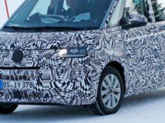 В Сети появились шпионские снимки Volkswagen T7 Multivan