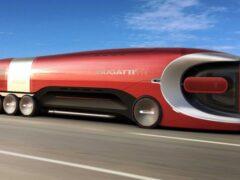 В Сети показали футуристичный грузовик Bugatti