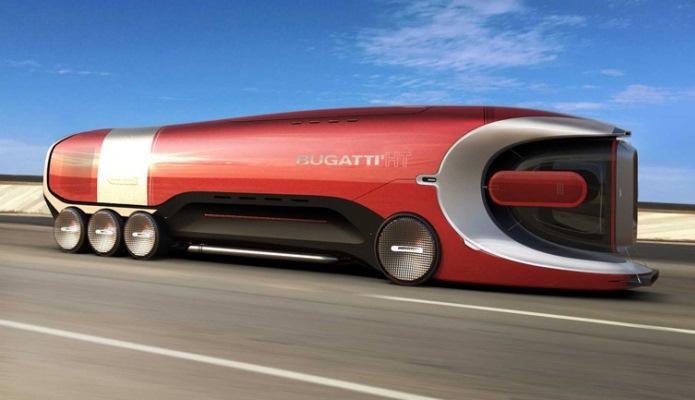 Bugatti, футуристичный грузовик