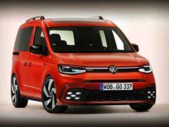 В Сети появились рендеры VW Caddy GTI и кабриолета Golf GTI