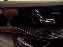 Mercedes-Benz S-класса следующего поколения получит дисплеи в дверях