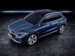 Mercedes представил тизер трех новых сменных гибридов