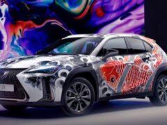 Lexus показал первый в мире татуированный автомобиль