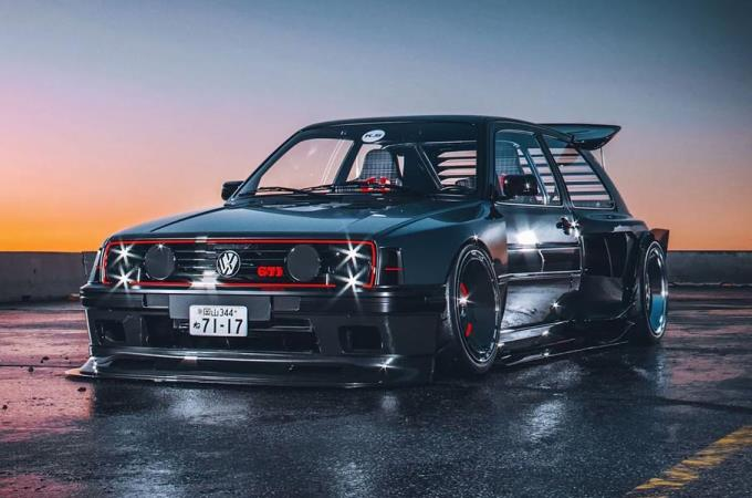 Volkswagen Golf GTI, демонический, тюнинг