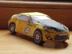Toyota выпустила миниатюрные бумажные GT86 для борьбы со скукой