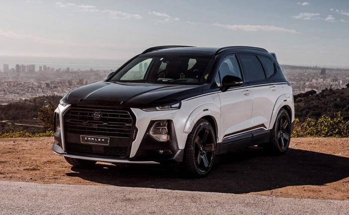 Hyundai Santa Fe, агрессивный обвес