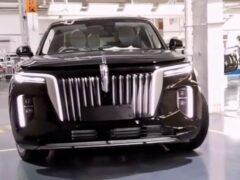 Hongqi E115 — китайский аналог Aurus Komendant — попался без камуфляжа