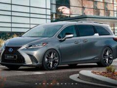 В Сети представили рендеры нового минивэна Lexus