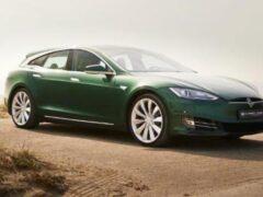 Эксклюзивный универсал Tesla Model S выставлен на продажу