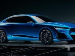 В Сети появились изображения нового поколения седана Acura TLX