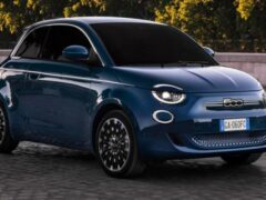Представили электрический хэтчбек Fiat 500