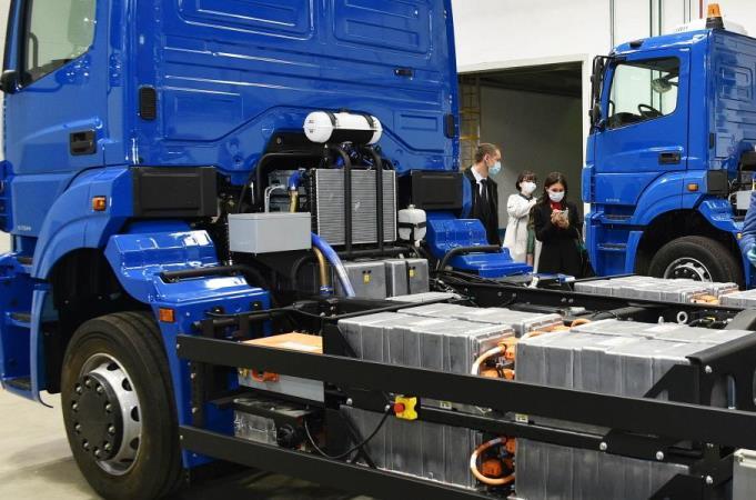 КамАЗ, грузовик, электрический