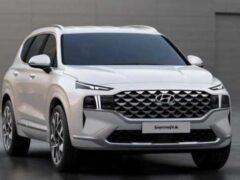 Обновленный Hyundai Santa Fe станет гибридом