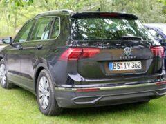 Обновленный Volkswagen Tiguan засекли на испытаниях