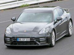Обновлённый Porsche Panamera Sport Turismo замечен на Нюрбургринге