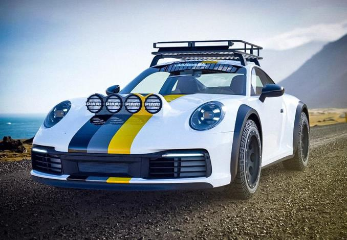 Porsche 911 Carrera 4S, тюнинг, внедорожник