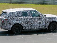 Следующее поколение Range Rover начали тестировать на Нюрбургринге