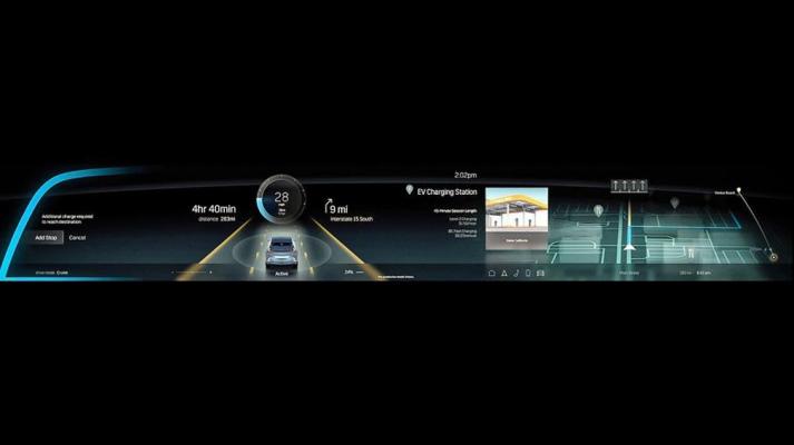 Cadillac Lyriq, экран