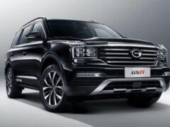 Китайский кроссовер GAC GS8 стал дороже на 100 тыс. рублей