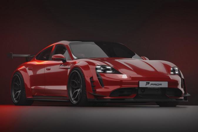 Porsche Taycan, широкий карбоновый обвес