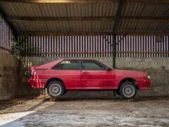 Редкий Audi Quattro, простоявший в сарае 26 лет, выставят на продажу