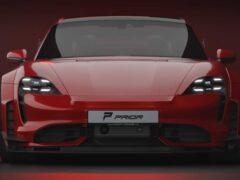 Porsche Taycan получил широкофюзеляжный комплект от Prior Design
