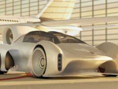 Представлен футуристичный концепт суперкара Porsche Project 411