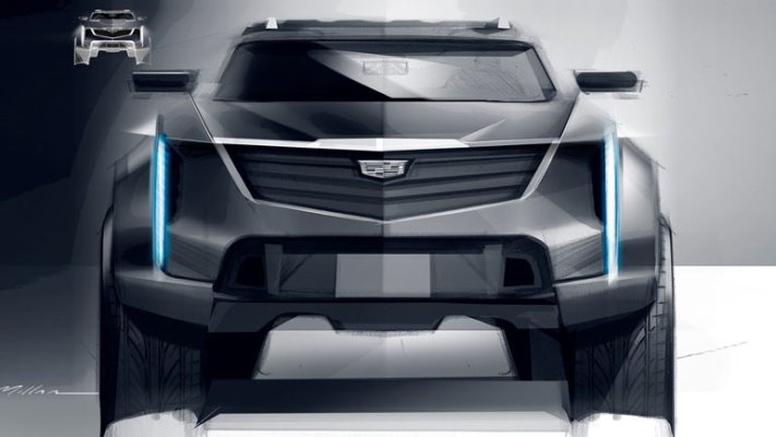 Cadillac, эскиз электрокара