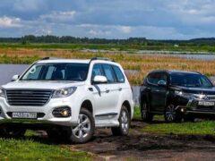 Сравнение рамных внедорожников Haval H9 и Mitsubishi Pajero Sport