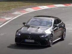 Mercedes-AMG GT 73e проходит тесты на Нюрбургринге