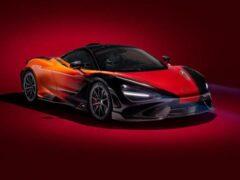 Суперкар McLaren 765LT Strata Theme красят 450 часов