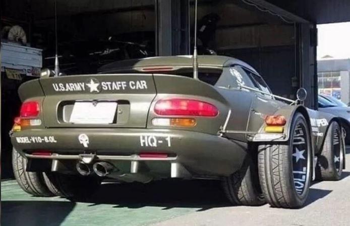 Dodge Viper, спорткар, шестиколесный