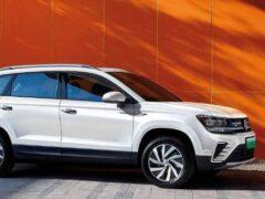 Volkswagen показал электрическую версию кроссовера Tharu
