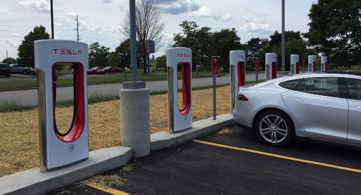 Tesla, зарядка