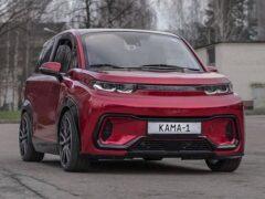 КамАЗ построит на основе электрокара «Кама-1» седан и грузовик
