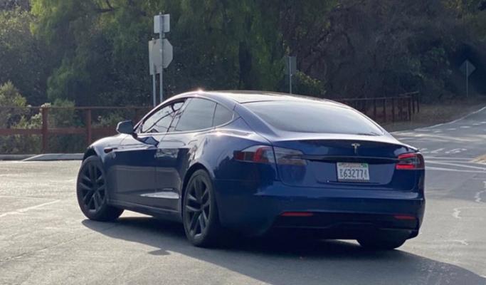 Tesla Model S, прототип, новый дизайн