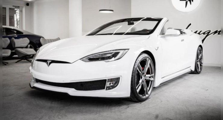 Tesla Model S, кабриолет со складывающейся тканевой крышей