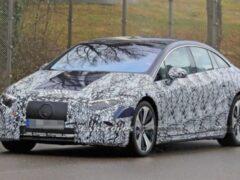 Mercedes-Benz вывел флагманский электрический седан EQS на тесты