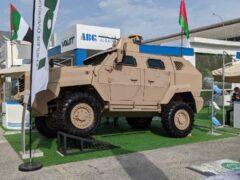 Белорусский Volat показал на IDEX-2021 новый броневик МЗКТ-490101
