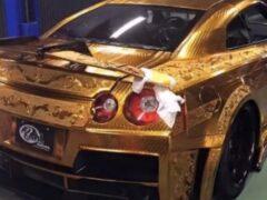 «Золотой» спорткар Nissan GT-R выставлен на продажу в Дубае