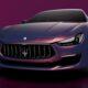 Бренд Maserati выпустил фиолетовую серию Ghibli Hybrid Love Audacious