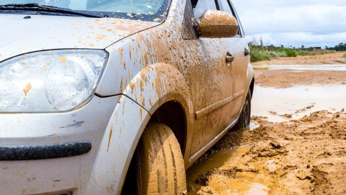 авто, грязь, бездорожье